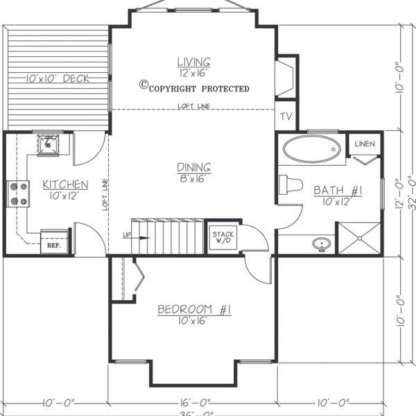Asheville Model Home Interior Design 1264f: The Pedestal 1612 Floor Plan