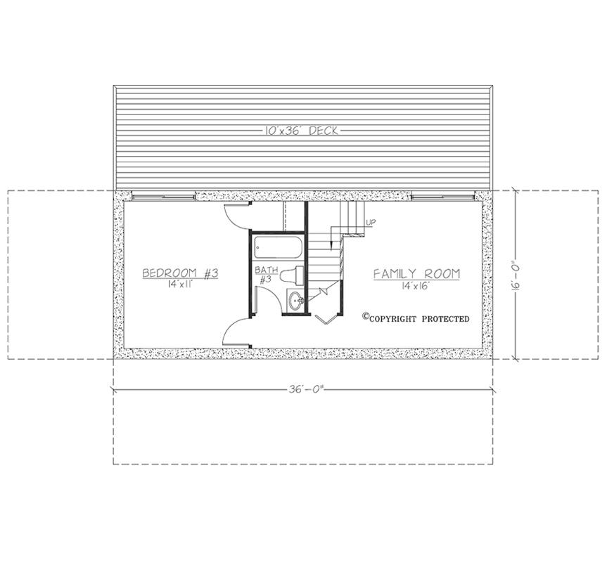 Asheville Model Home Interior Design 1264f: The Harmony 3616 Floor Plan